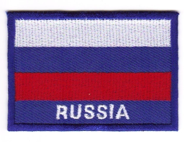 1 Aufnäher Sticker Patch Flagge Russland 7,1 x 4,9 cm