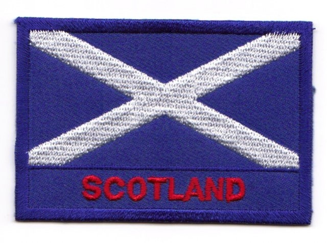 1 Aufbügler Sticker Patch Flagge Schottland 7,2 x 5 cm