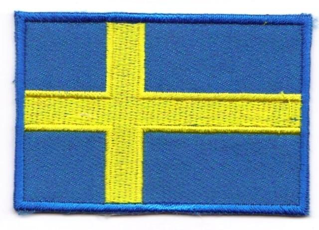 1 Aufnäher Sticker Patch Flagge Schweden 4,5 x 3cm