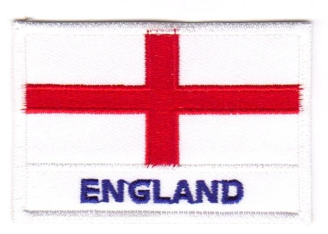 1 Aufnäher Sticker Patch Flagge England 7,2 x 4,9 cm