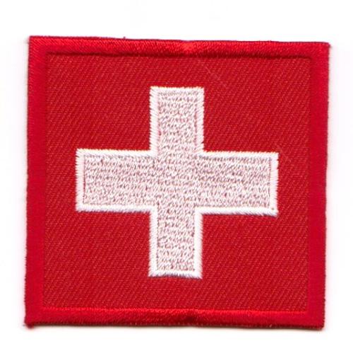 1 Aufnäher Sticker Patch Flagge Schweiz 5,5 x 5,5 cm