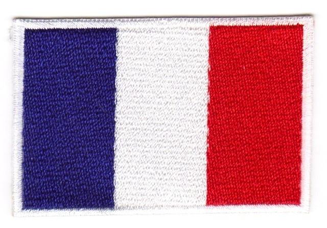 1 Aufnäher Sticker Patch Flagge Frankreich 4,5 x 3 cm