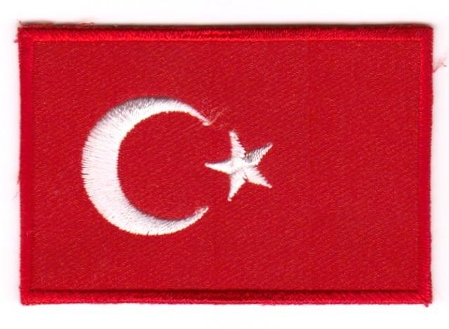 1 Aufnäher Sticker Patch Flagge Türkei 3 x 2 cm