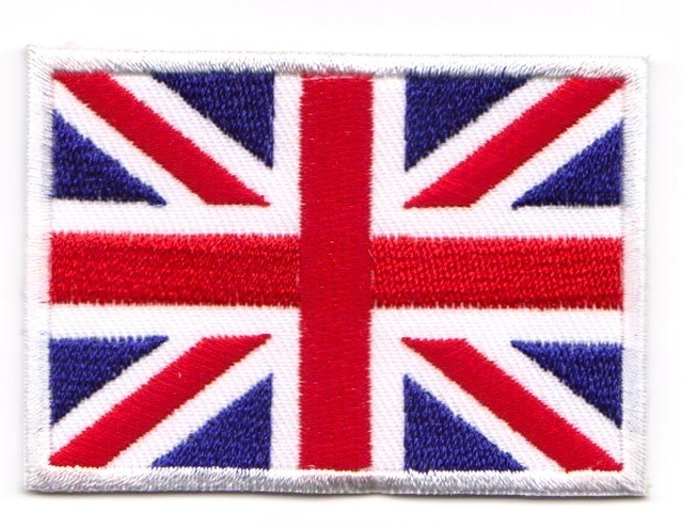 Aufnäher Sticker Patch Flagge United Kingdom 3x2cm