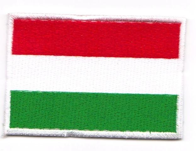 1 Aufnäher Sticker Patch Flagge Ungarn 7 x 4,8 cm
