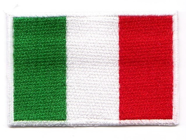 1 Aufnäher Sticker Patch Flagge Italien 3 x 2cm