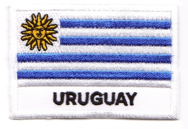 1 Aufnäher Sticker Patch Flagge Uruguay 7,2 x 4,9 cm