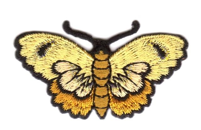 Applikation Patch Schmetterlinge Farbe: Hellbraun 5,4 x 3cm