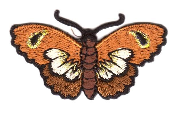 Applikation Patch Schmetterlinge Farbe: Braun 5,4 x 3cm