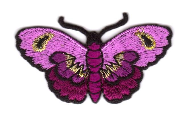 Applikation Patch Sticker Schmetterlinge Farbe: Pink 5,4x3cm