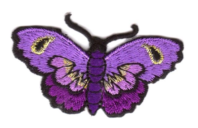 Applikation Patch Schmetterlinge Farbe: Violett 5,4 x 3cm