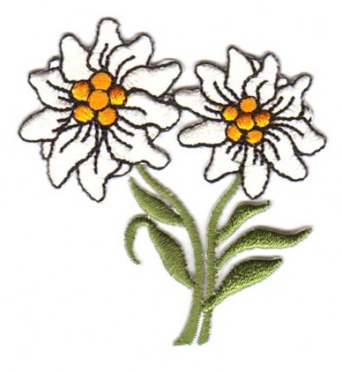 Edelweiss Trachten Wiesn Applikation Patch 6 x 6cm
