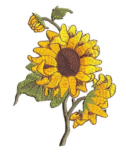 Sonnenblume Trachten Wiesn Applikation Patch 10 x 13cm