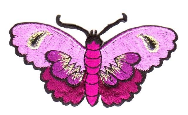 Applikation Patch Sticker Schmetterlinge Farbe: Violett8,5x5cm