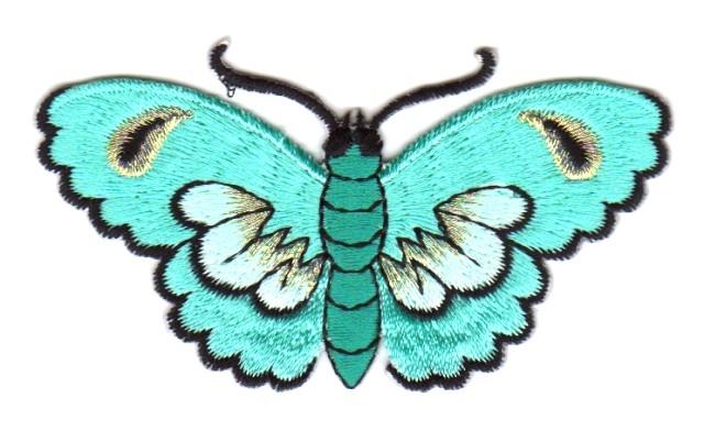 Applikation Patch Sticker Schmetterlinge Farbe: Mint 8,5x5cm