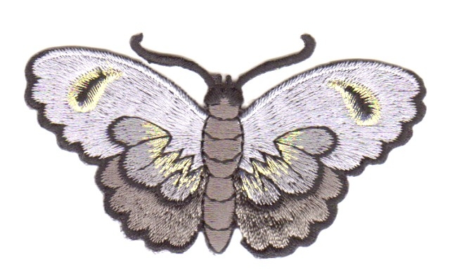 Applikation Patch Sticker Schmetterlinge Farbe: Anthrazit 8,5x5cm