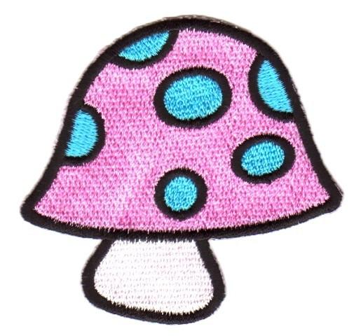 Applikation Patch Scrap-Tex Pilz 7 x 6,5cm Farbe: Pink