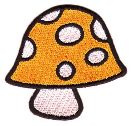Applikation Patch Scrap-Tex Pilz 7 x 6,5cm Farbe: Orange