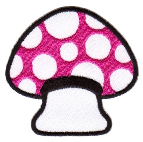 Applikation Patch Scrap-Tex Pilz 6,7 x 6,5cm Farbe: Pink