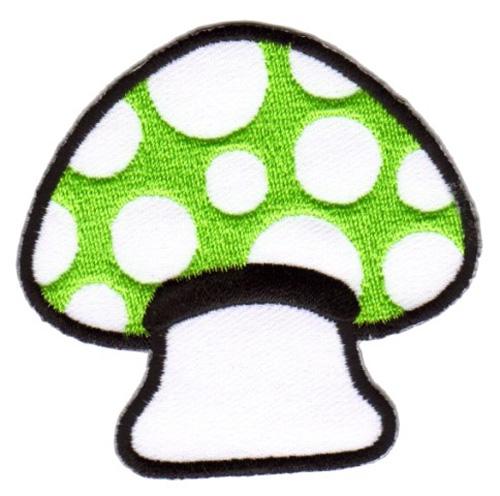 Applikation Patch Scrap-Tex Pilz 6,7 x 6,5cm Farbe: Grün