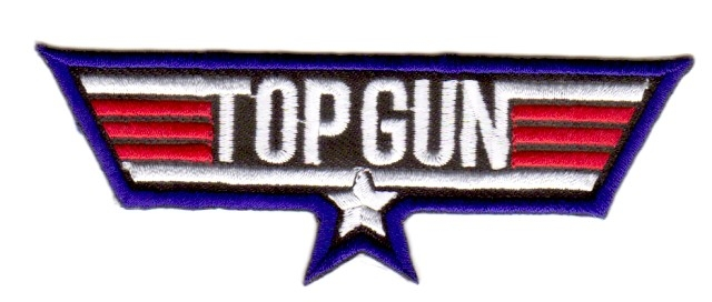 Applikation Patch Sticker TopGun 11x4cm