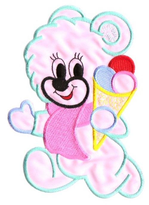 Applikation Patch Sticker Teddy Farbe: Rosa 11,5 x 15,5cm