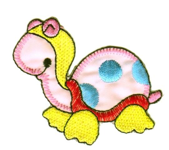 Applikation Schildkröte 6,5 x 5,5cm Farbe: Rosa VOR51-6