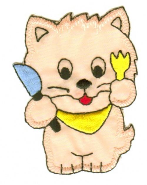 Applikation Katze 5,5 x 7cm Farbe: Rosa VOR51-15