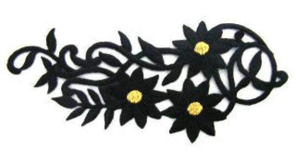 1 Paar Blumenapplikationen AA250-37