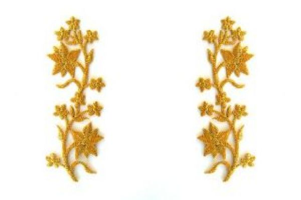 1 Paar historische Applikationen klein AA251-1 Farbe: Gold