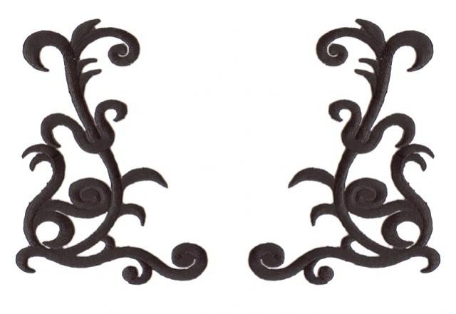 1 Paar Applikationen Farbe: Schwarz 10,5x7,5cm höhere Qualität