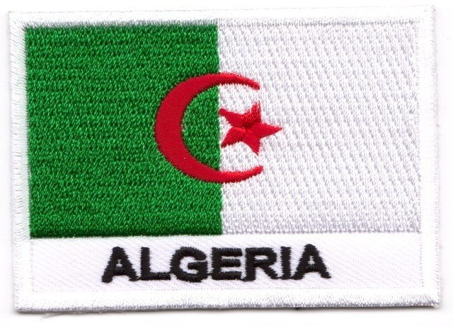 1 Aufnäher Sticker Patch Flagge Algerien 7 x 4,9 cm