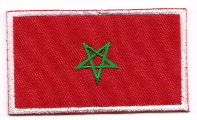 1 Aufnäher Sticker Patch Flagge Marokko 8,1 x 4,6 cm