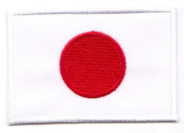 1 Aufnäher Sticker Patch Flagge Japan 3 x 2cm