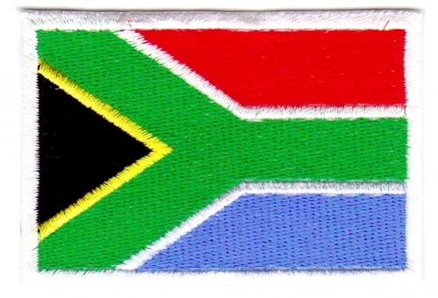 1 Aufnäher Sticker Patch Flagge Südafrika 7,1 x 4,9 cm
