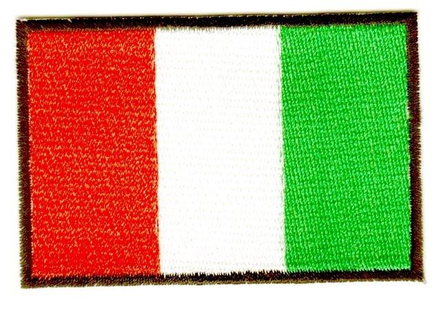 1 Aufnäher Sticker Patch Flagge Elfenbeinküste 7x4,8 cm