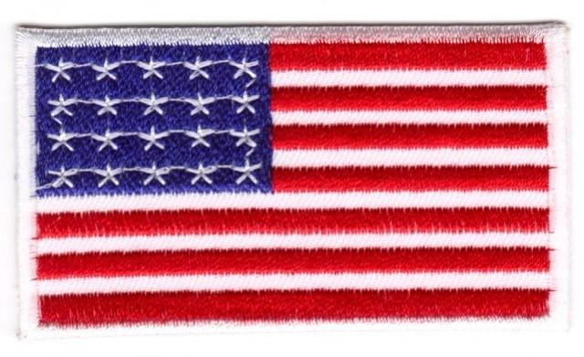 1 Aufnäher Sticker Patch Flagge USA 3x2 cm