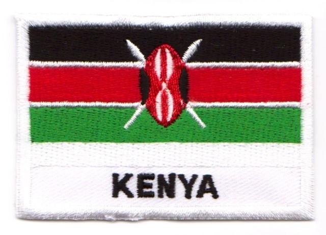 1 Aufnäher Sticker Patch Flagge Kenia 7,1 x 4,9 cm