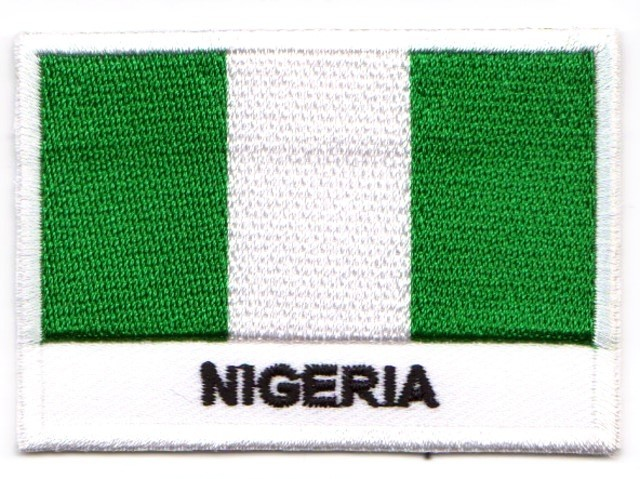 1 Aufnäher Sticker Patch Flagge Nigeria 7 x 4,9 cm