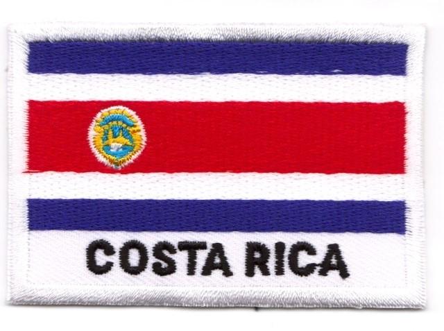 1 Aufnäher Sticker Patch Flagge Costa Rica 7,2 x 5 cm