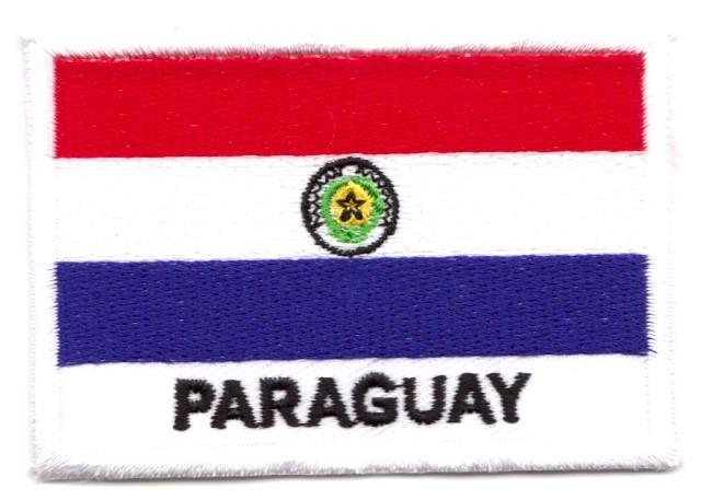 1 Aufnäher Sticker Patch Flagge Paraguay 7, x 5 cm