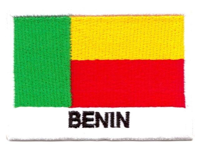 1 Aufnäher Sticker Patch Flagge Benin 7 x 5 cm