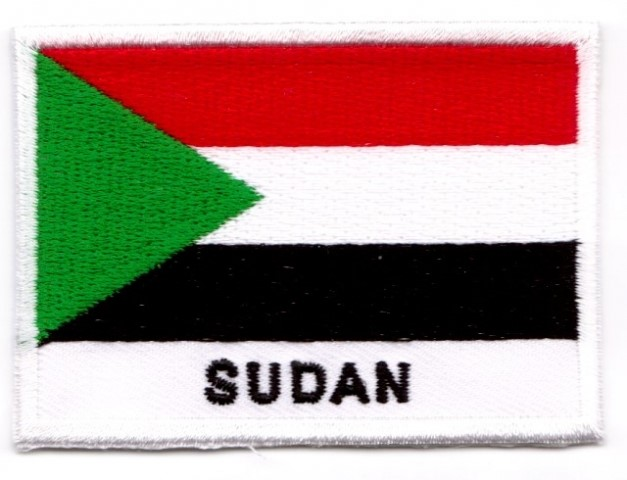 1 Aufnäher Sticker Patch Flagge Sudan 7 x 5 cm