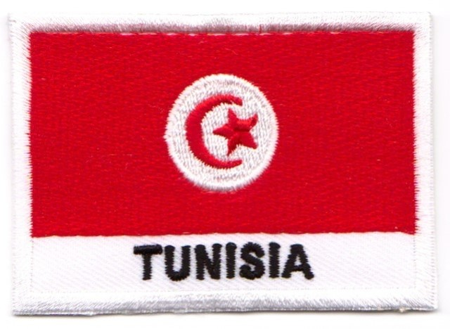 1 Aufnäher Sticker Patch Flagge Tunesien 7,1 x 4,9 cm