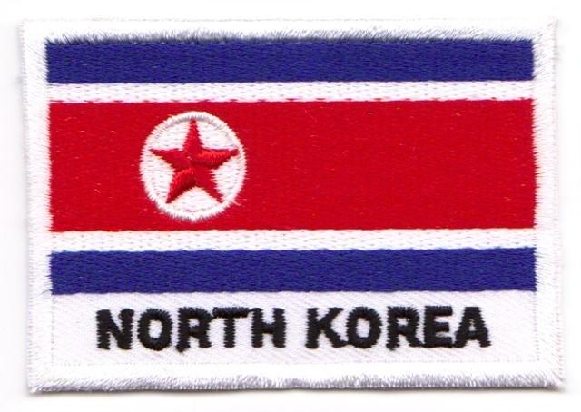 1 Aufnäher Sticker Patch Flagge Nordkorea 7,1 x 4,9 cm