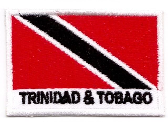 1 Aufnäher Sticker Flagge Trinidad - Tobago 7,1x4,8 cm