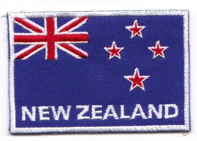 1 Aufnäher Sticker Patch Flagge Neuseeland 7 x 4,8 cm