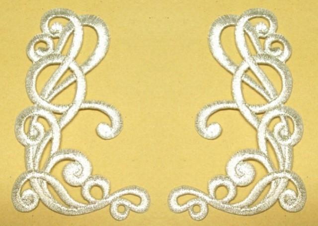 1 Paar Applikationen Farbe: Silber 10,5x6,3cm höhere Qualität