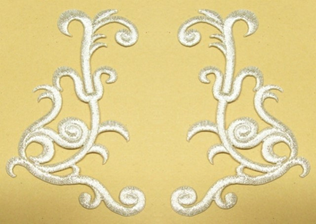 1 Paar Applikationen Farbe: Silber 10,5 7,5cm höhere Qualität