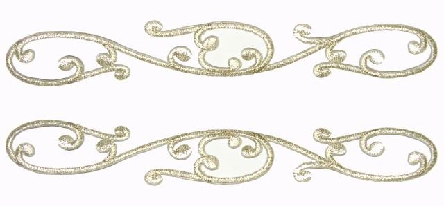 1 Paar Applikationen Farbe: Silber 20 x 3cm höhere Qualität